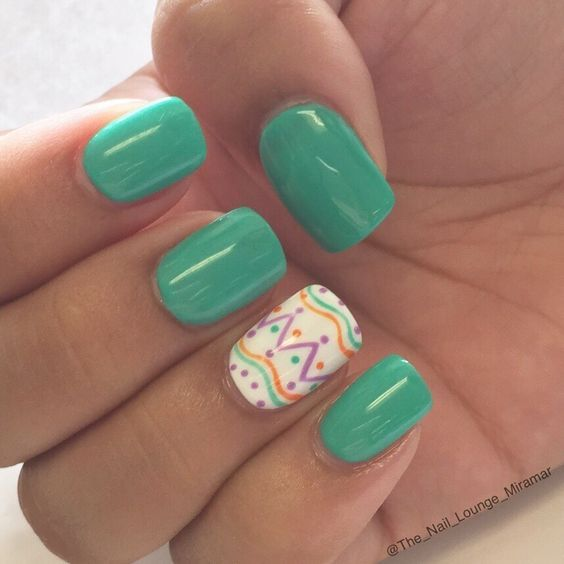 21 Easy Easter Nail Designs for Short Nails | Easter nail designs ...