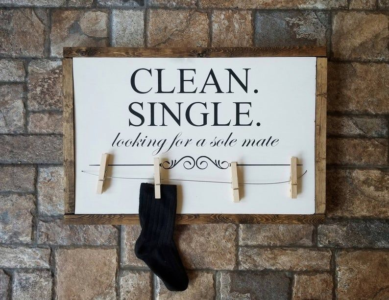 Lost Socks Sign Lost Socks Hanger Laundry Room Sign Laundry Etsy