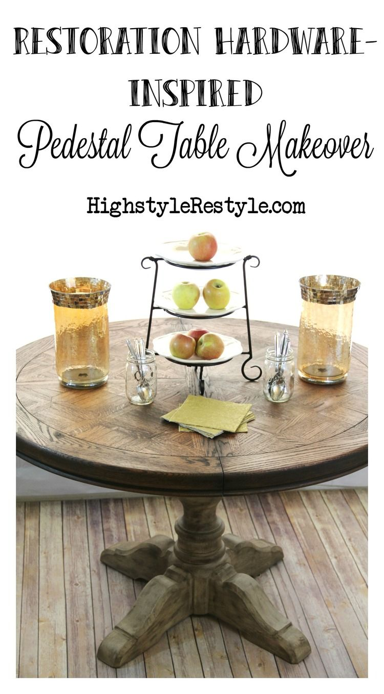 Love The Way She Painted Base Of This Table Looks Just Like A Restoration Hardware Piece