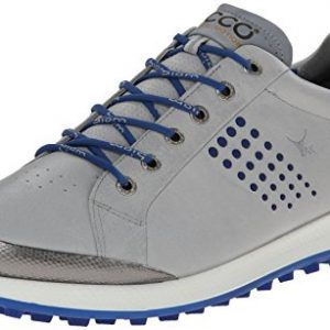 Ecco Biom Hybrid 2 Men S Golf Shoes Concrete Royal 6 Uk Golf Shoes Mens Mens Golf Outfit Nike Golf Shoes