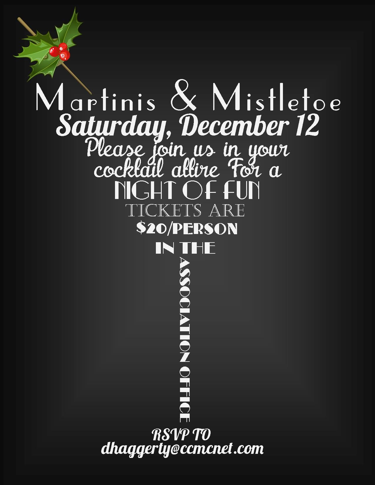 Fun Adult Christmas Party Ideas Part - 36: Martinis U0026 Mistletoe Adult Holiday Party Invitation 2014