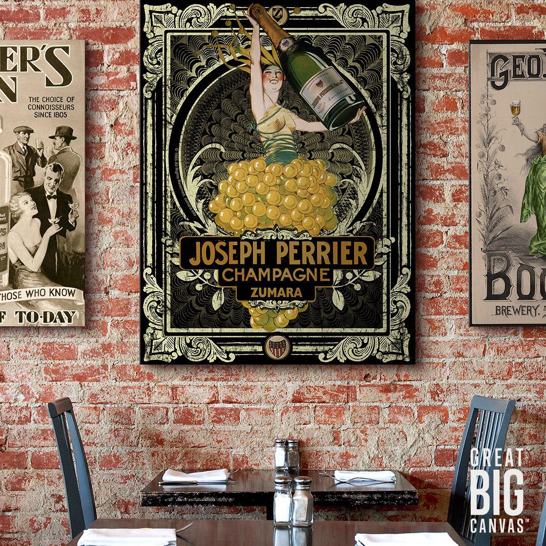 Joseph Perrier Champagne 2 Bar Wall Decor Big Wall Art Wall