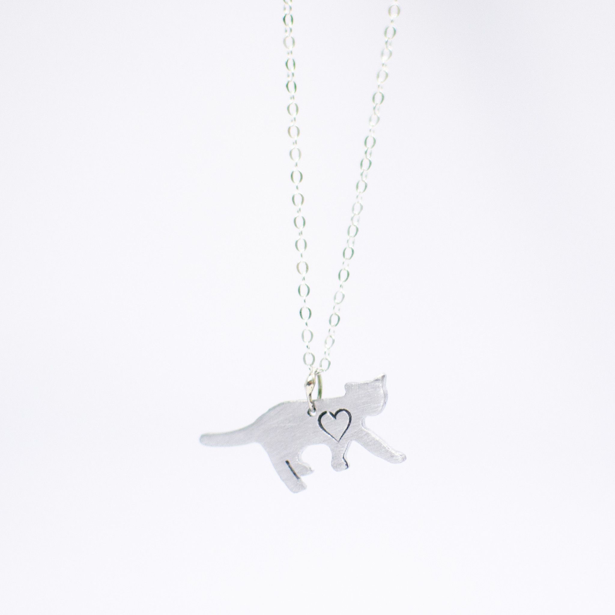 Christy Robinson Designs 'Mini Cat with Heart Necklace'