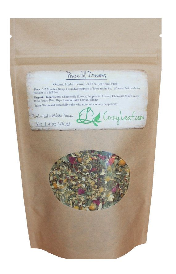 Small  Refill Bag Organic Peaceful Dreams Loose by TheCozyLeaf, $9.99