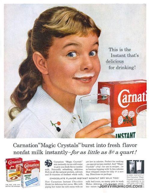 Carnation Instant Nonfat Dry Milk Vintage Scrapbook Vintage Ads Vintage Recipes