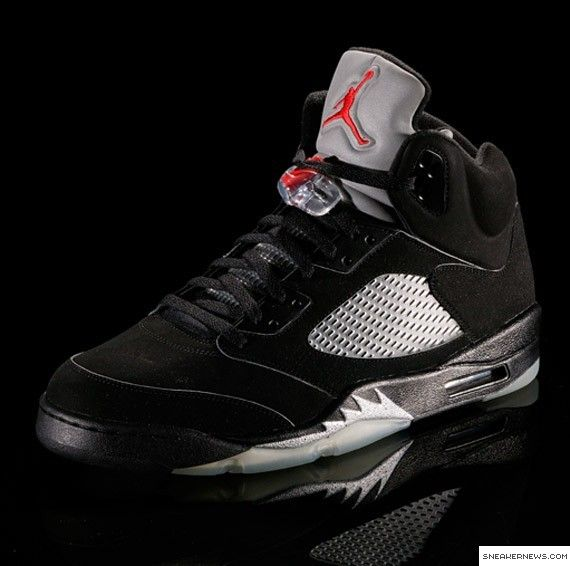 all black air jordan 5
