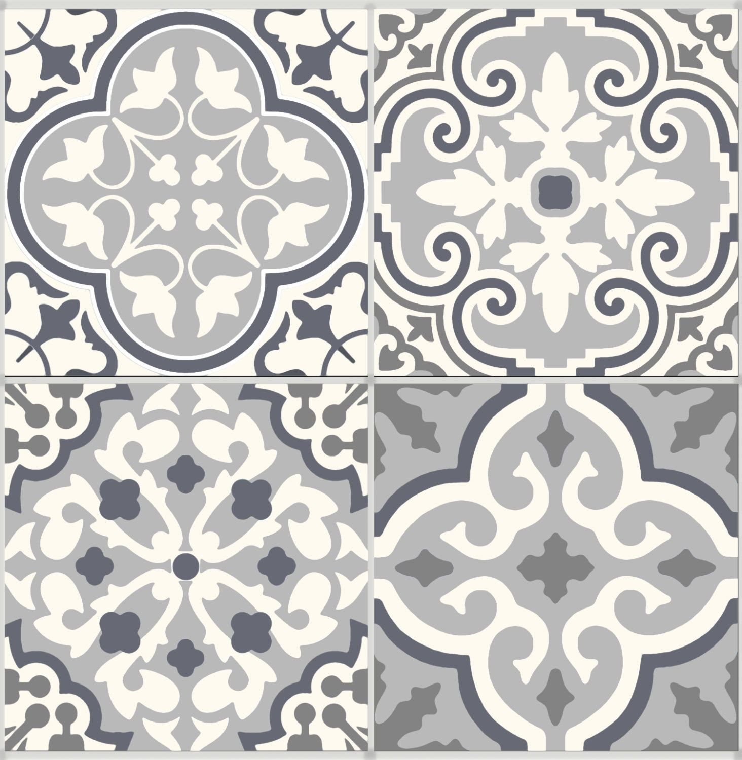Tile Stickers Vinyl Decal Waterproof Removable For Kitchen Bath