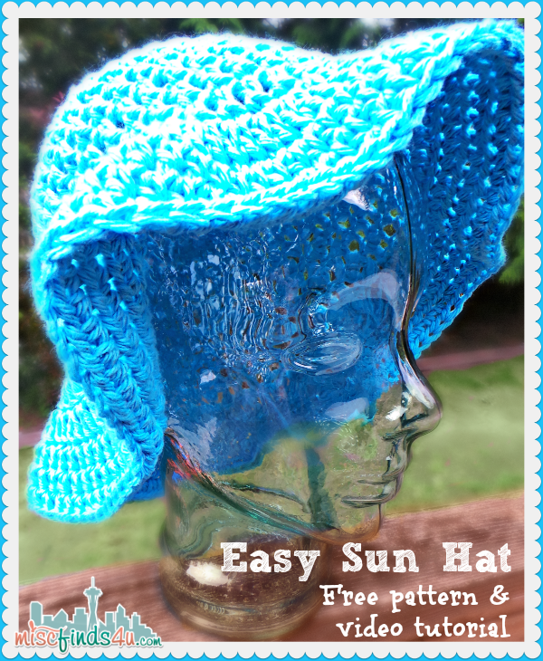 Crochet Sun Hat - Free Pattern and Video Tutorial - MiscFinds4u #BHGSummer