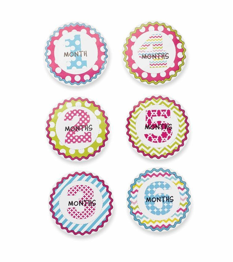 Girl Month Milestone Stickers - Time Your Gift - 2