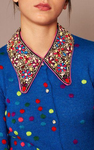 Bleu Dotty Button Up Cardigan  by MANOUSH