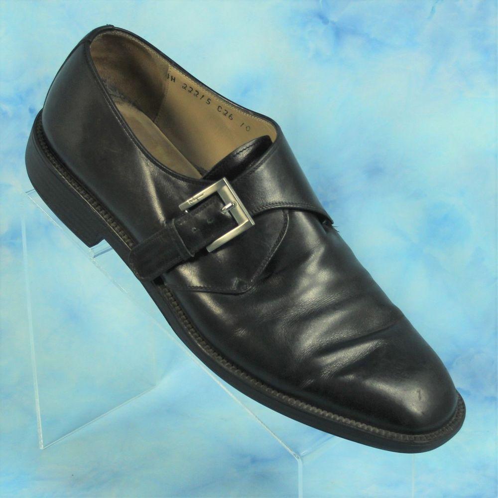 b2eadd53c9c Salvatore Ferragamo Studio 10 D Black Monk Strap Buckle Shoes Made in ITALY   SalvatoreFerragamo  MonkStrap