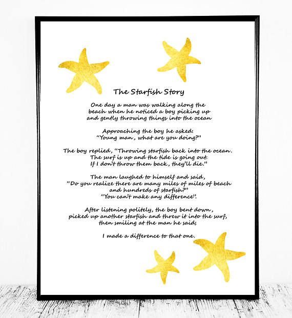 image about Starfish Poem Printable identify The Starfish Tale, The Starfish Poem, Loren Eiseley