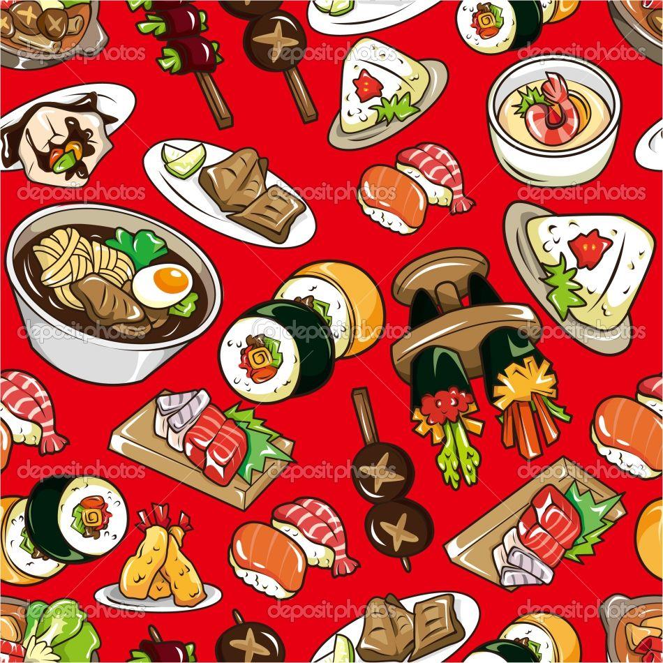 Food Pattern Food Wallpaper Japanese Food Food Patterns