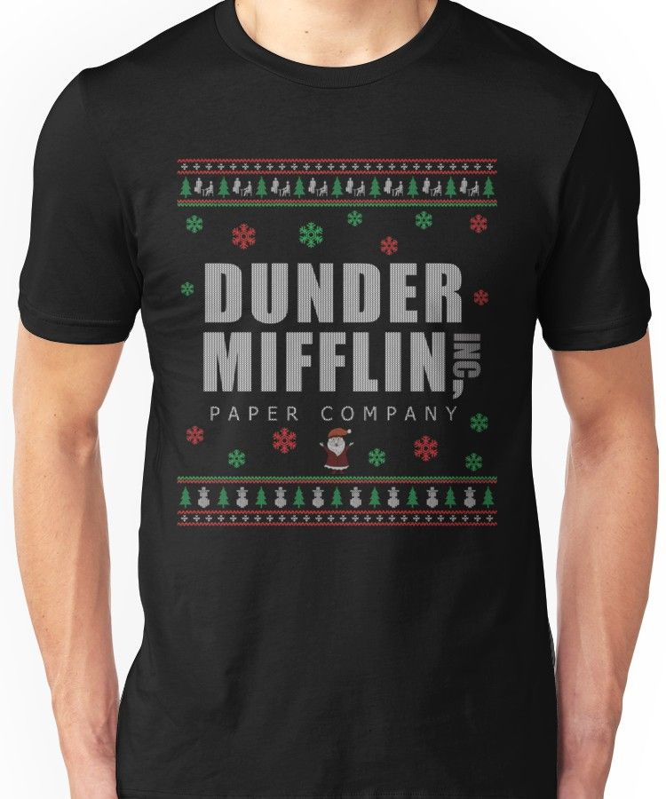the office christmas ugly sweater dunder mifflin unisex t shirt