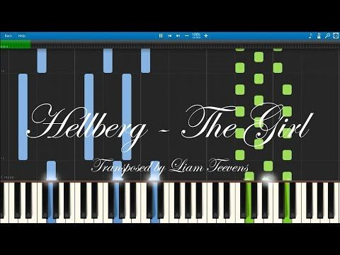 Hellberg - The Girl (Synthesia)[MIDI + Piano Sheet Download