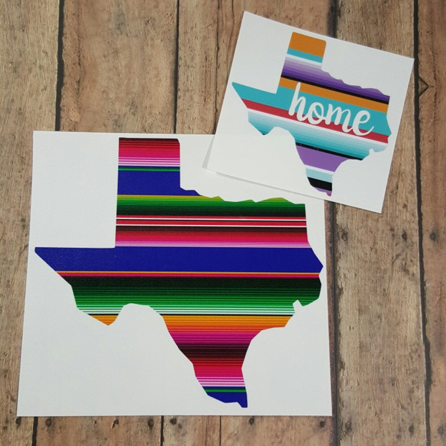 Serape Blanket Pattern State Decal State Of Texas Decals Texas - How to make vinyl monogram decals with cricut
