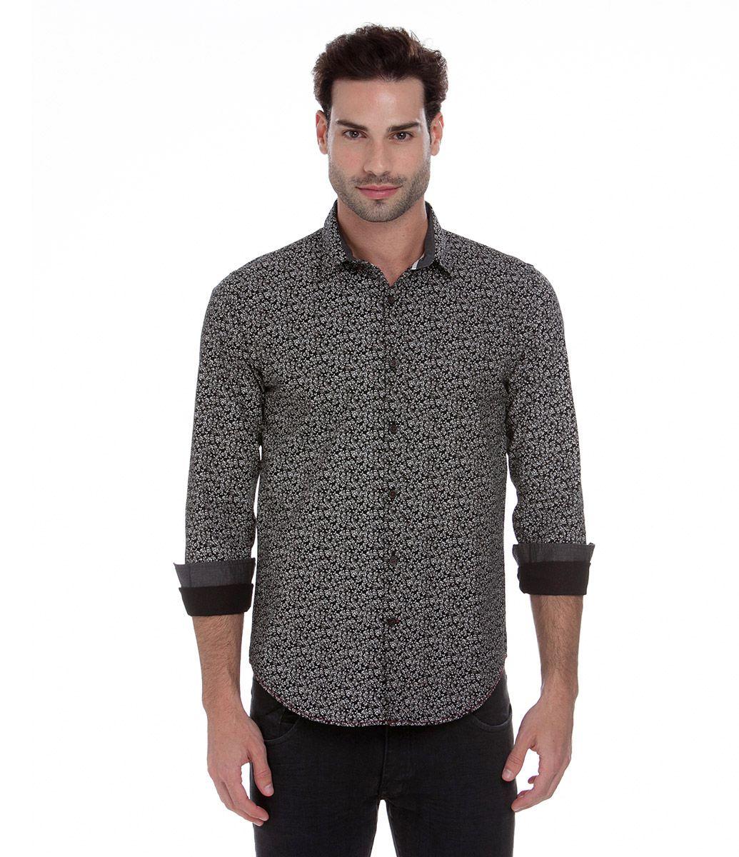 23ce331a0 Camiseta masculina Manga longa Floral Marca  Request Tecido    TricolineComposição  100% algodão.
