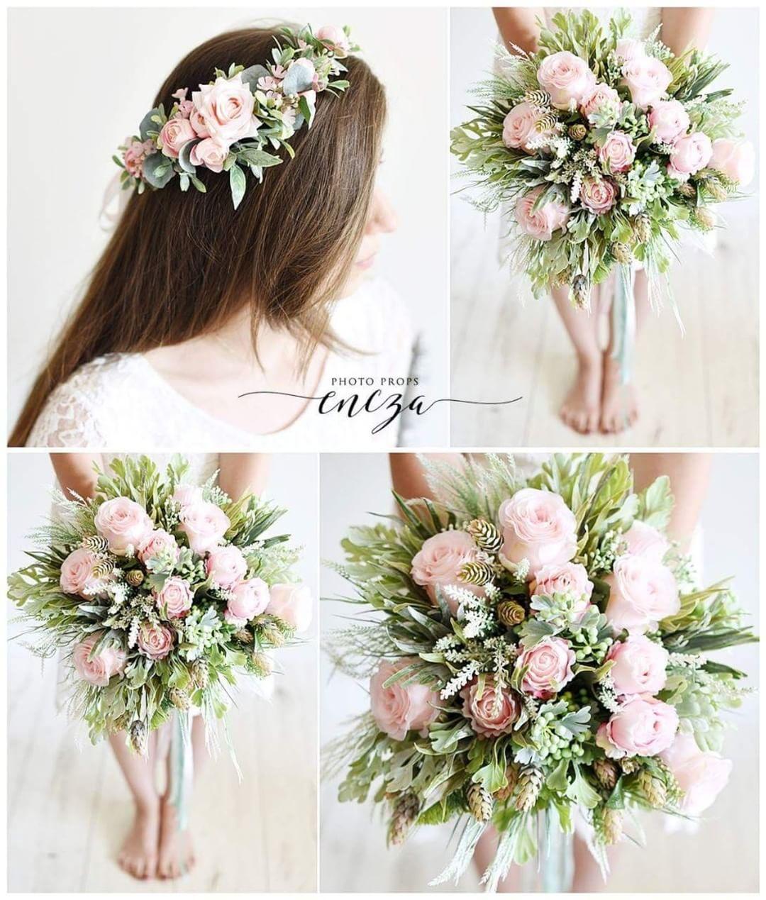 Kolejna Z Naszych Realizacji Slubnych Asymetryczny Wianek I Romantyczny Bukiet Slubny Kwiaty Flowers Photography Wedding Decorations Wedding Pink Flowers