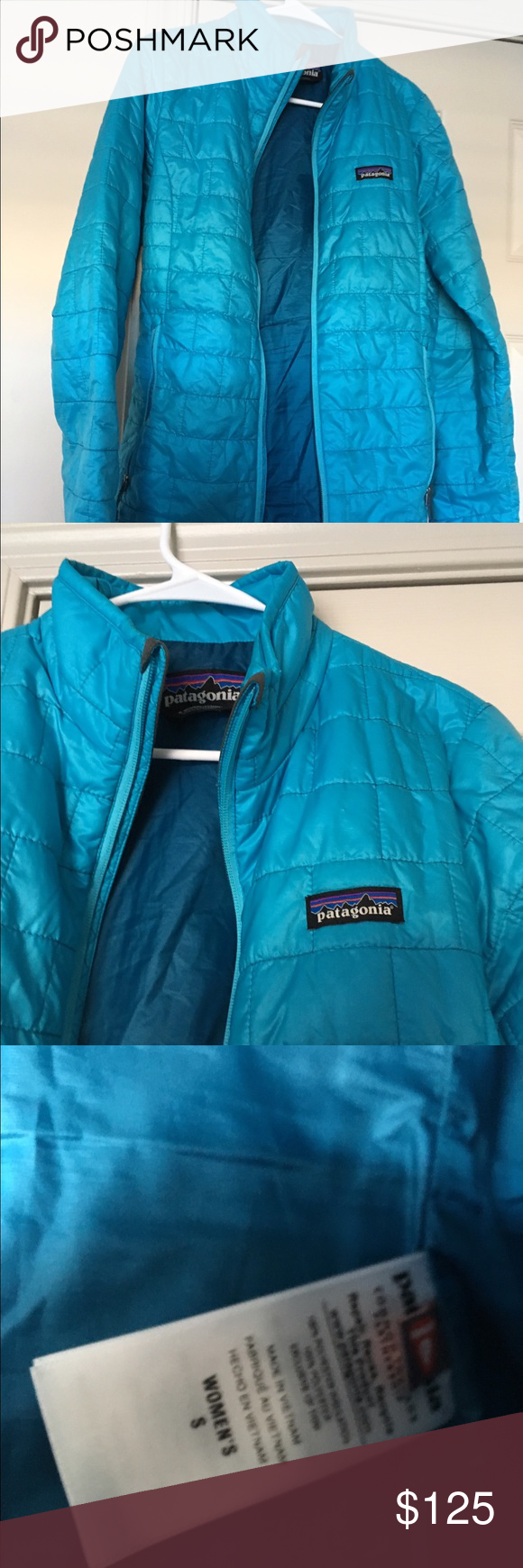 Patagonia nano puff quilted down jacket small Worn very little by a non smoker, just not enough cold weather here in Phoenix to justify keeping it. No stains rips etc. size small Patagonia Jackets & Coats Puffers
