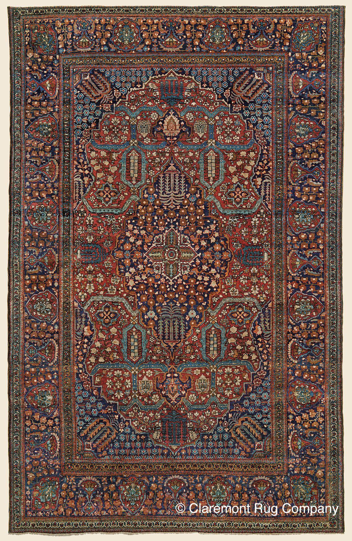 Antique Late 19th Century Connoisseur Caliber Central Persian