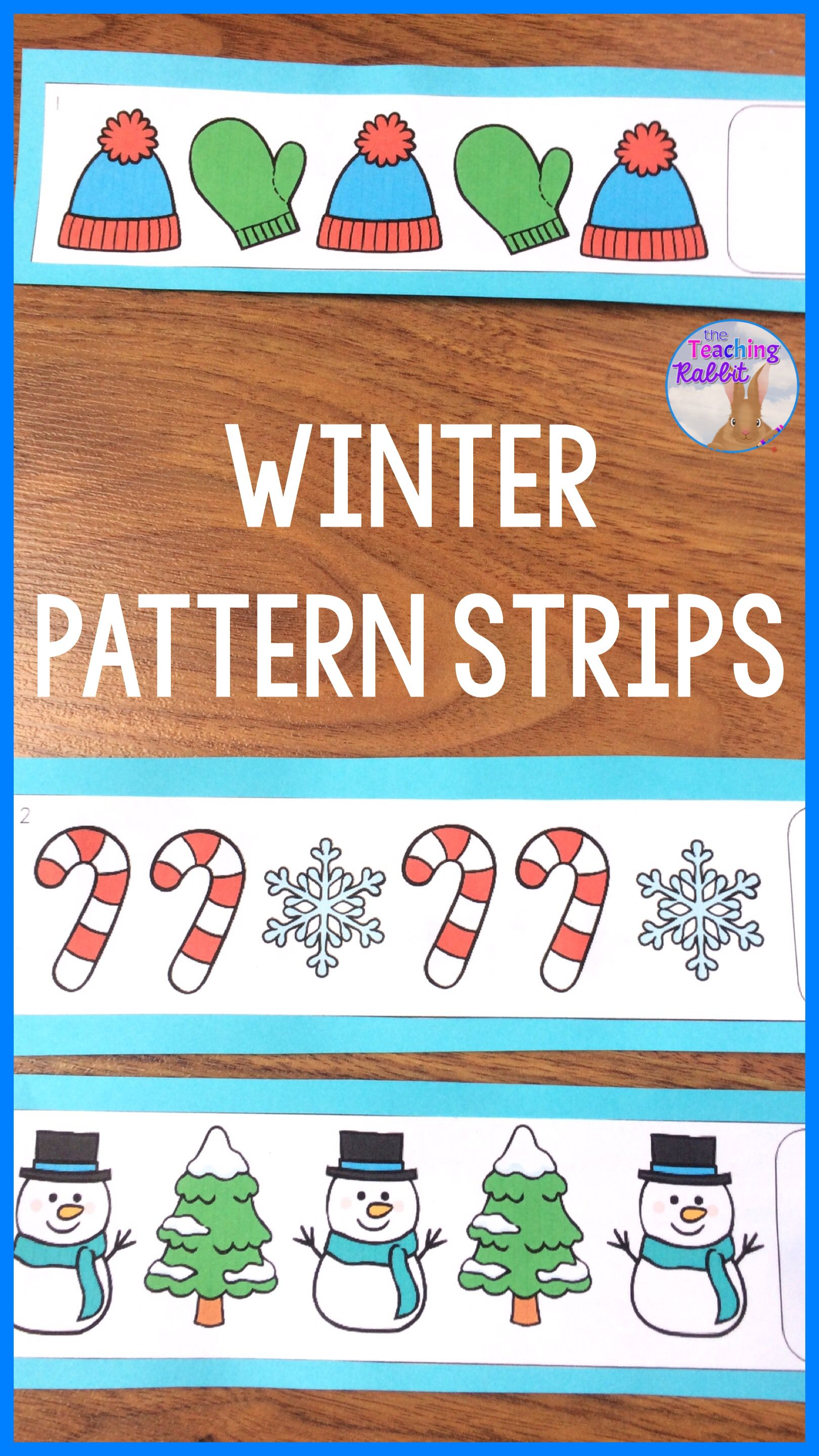 Winter Pattern Strips Center