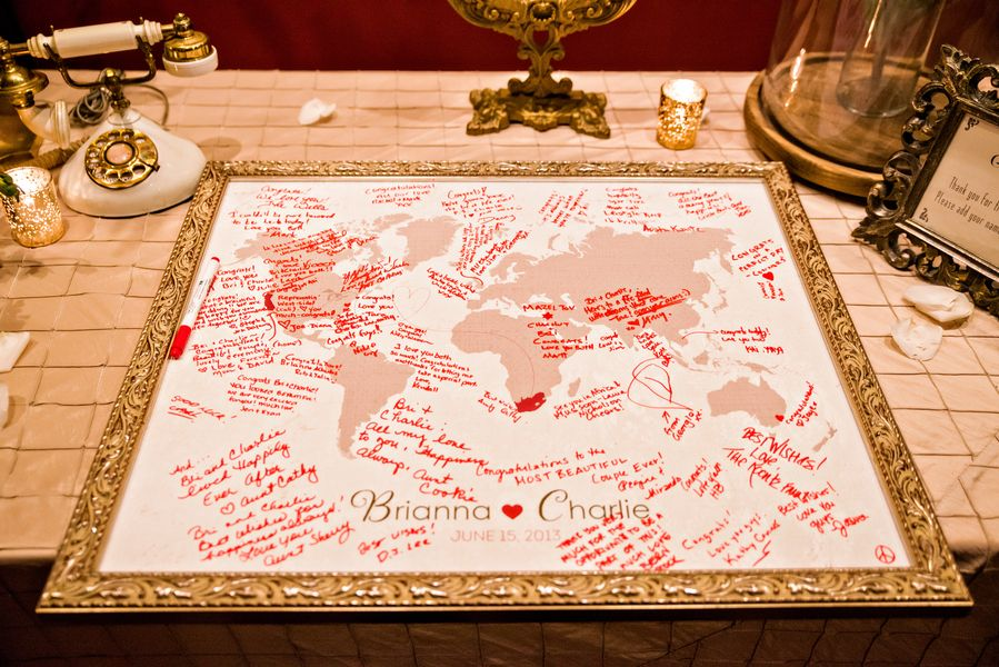 World map guest book ballrooms weddings and wedding world map guest book elizabeth anne designs the wedding blog gumiabroncs Images