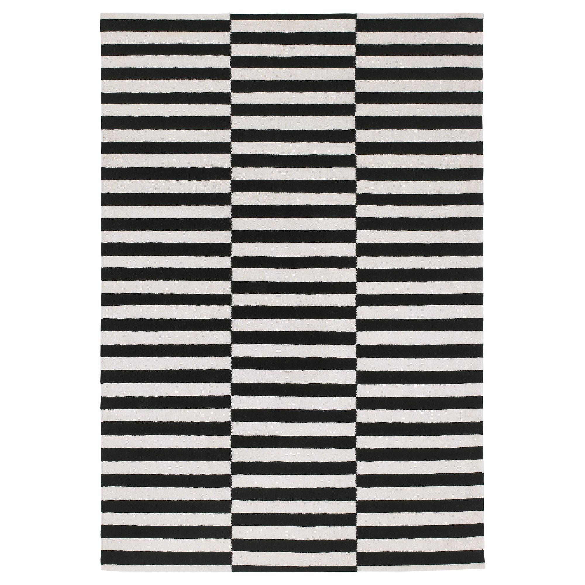 Striped rug - as seen, everywhere :) IKEA STOCKHOLM RAND Rug, flatwoven -