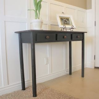 COUNTRY GIRL HOME: Entry Table #2 {Black Distressed} U0026 Tutorial