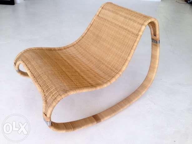 Leżanka Szezlong Z Wikliny Ikea Loft Industrial Scandia