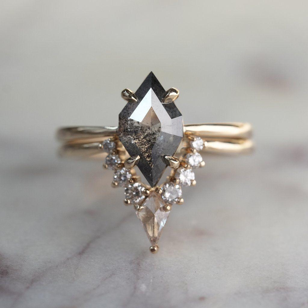 Carat Geometric Diamond Engagement Ring