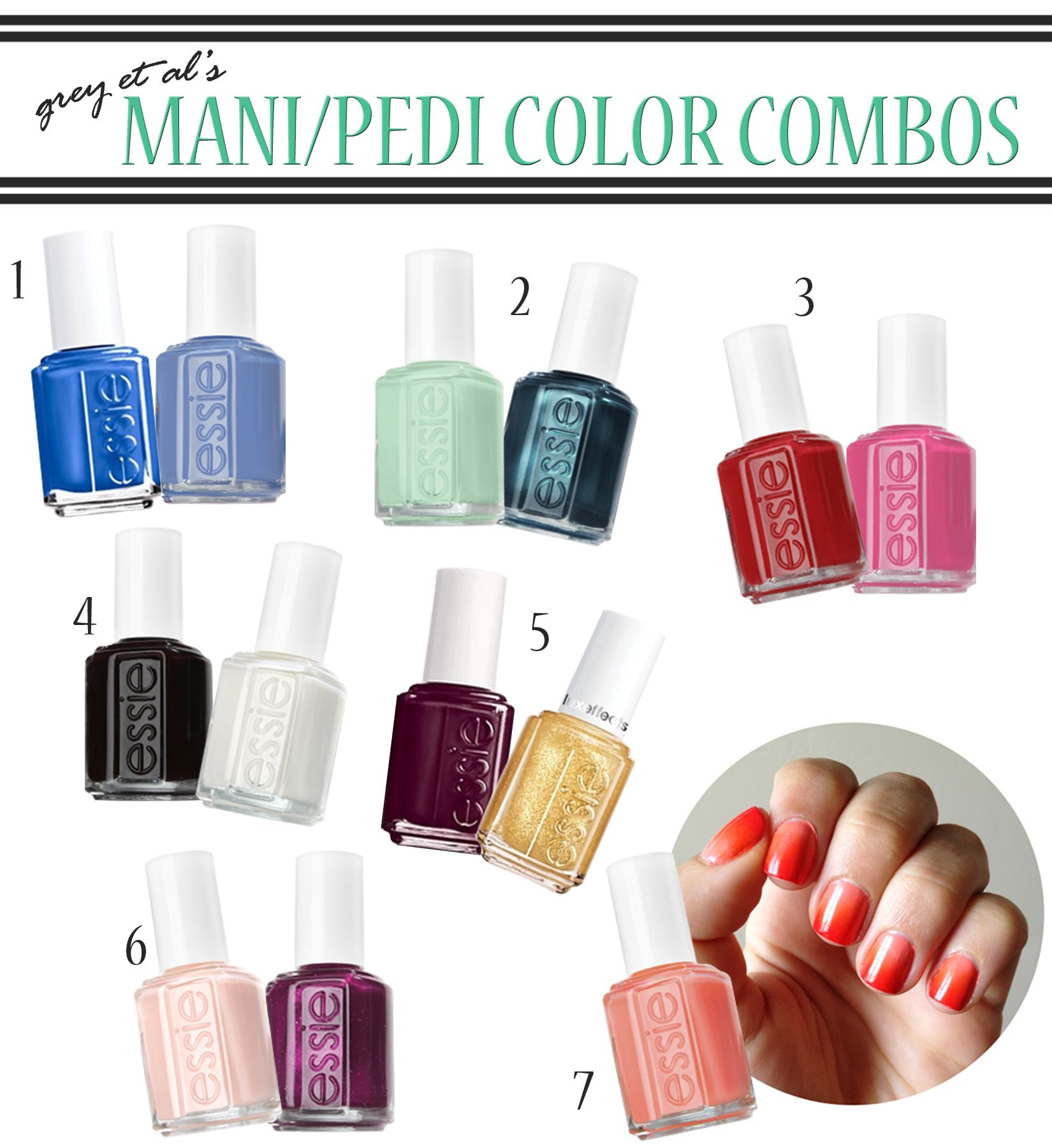 grey et al\'s mani/pedi color combinations   polished   Pinterest ...