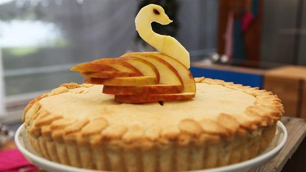 Apple pie med flødeost og lakrids
