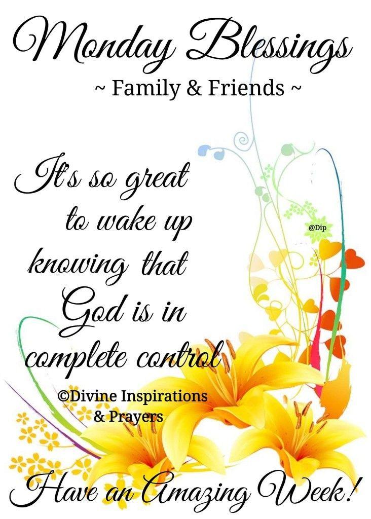 Monday Blessings! | Monday blessings, Christian ...