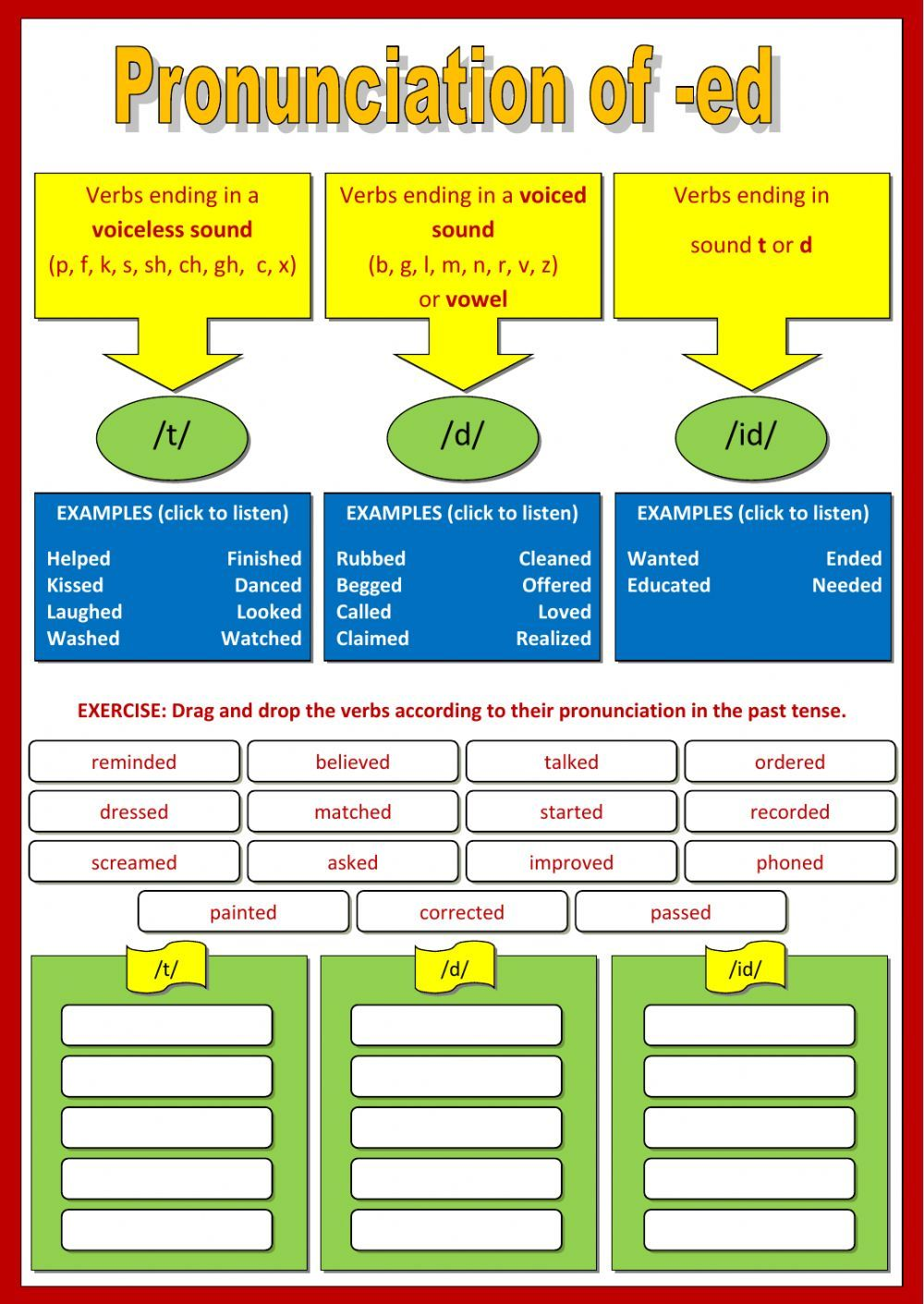 Pronunciation interactive and downloadable worksheet. You