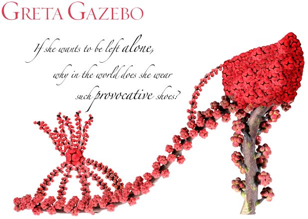 """""""Greta Gazebo"""" If she wants to be left alone, why in the world does she wear…"""