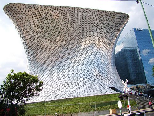 Fernando Romerou0027s Museo Soumaya Art Museum In Mexico City. 16,000 Mirrored  Steel Tiles.