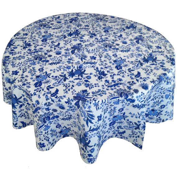 French Country Tablecloth Provence Tablecloth Blue By Cranberrymak, $64.00