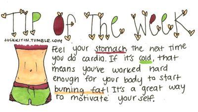 Confidence ! tip, fit, cardio