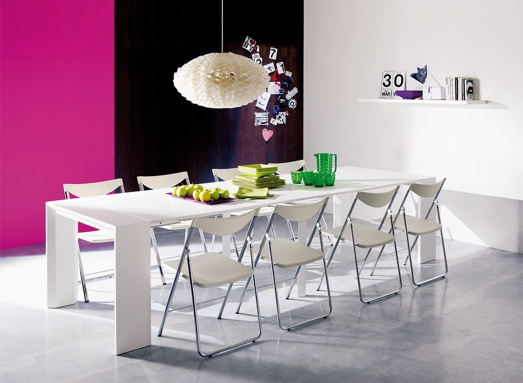 The Goliath Console/Dining Table Extends From To Utilizing A Unique  Aluminum Telescoping Mechanism. Table Includes Five Extensions.
