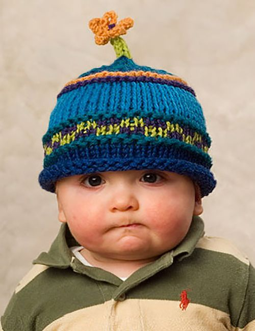 Free Knitting Pattern for Flower Power Hat - A knit flower sprouts ...