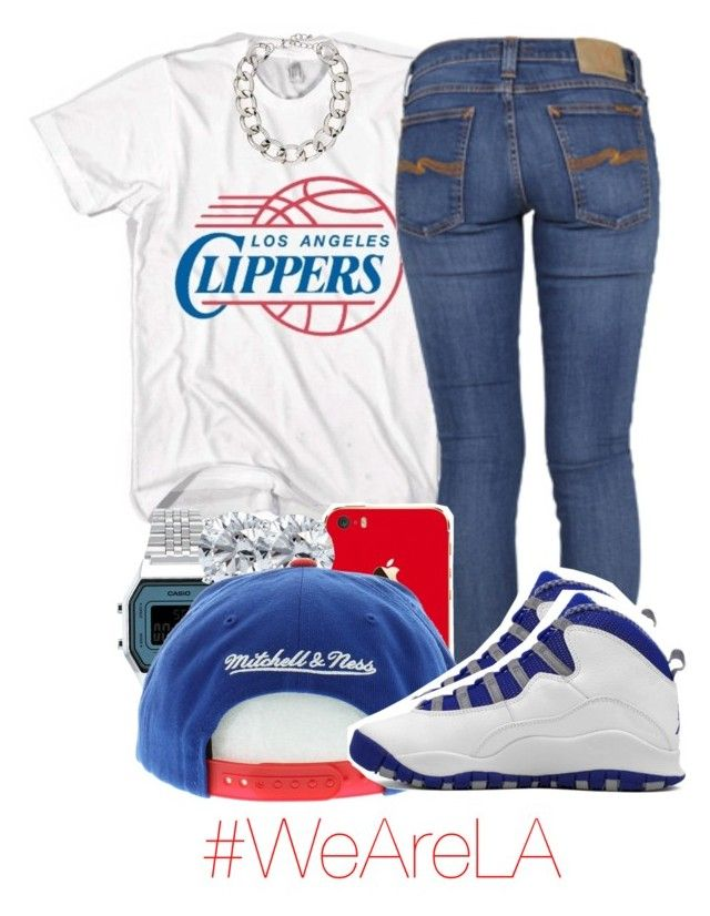 """i'm so happy the Clippers won tonight! i'm ready for game 7."" by yeauxbriana ❤ liked on Polyvore featuring Nudie Jeans Co., Topshop, Blue Nile, Retrò, Lydell NYC, ClipperNation and WeAreLA"