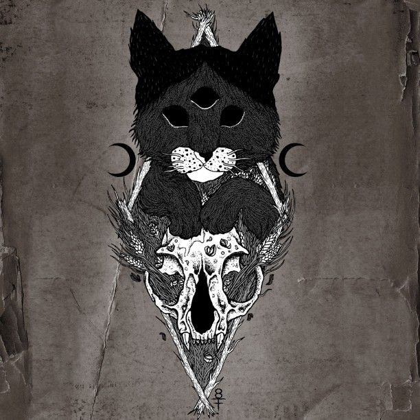 #cat #kitten #catskull #darkart #illustration #shapefromhell #occultcat #occult #drawing #art #blackmetal #occultart #spiritual