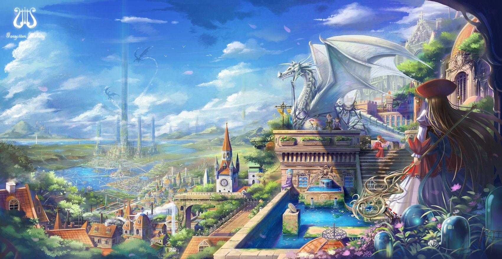 fantasy city of ice Google Search Fantasy art