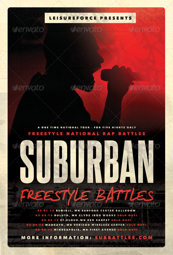 Suburban Freestyle  HipHop Flyer Template  Flyer Template Hip