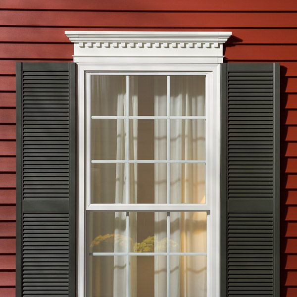 This Is A Window Mantel With Dental Trim Accent.