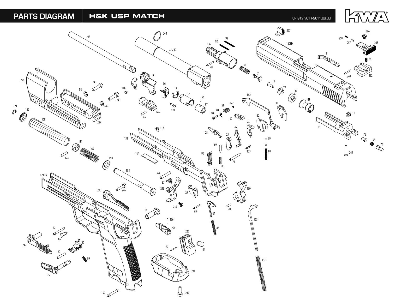 Exploded Gun Diagrams Hk Usp 45