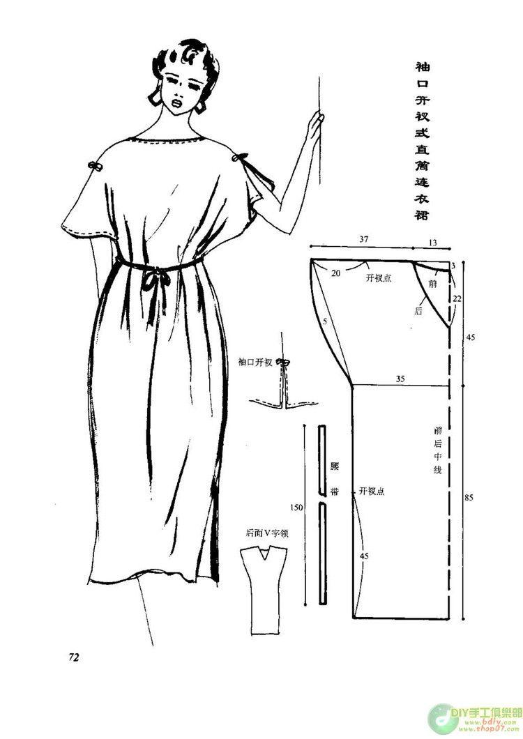 Schnittmuster Kleid - Dress Pattern - Vintage | Kostenlose ...