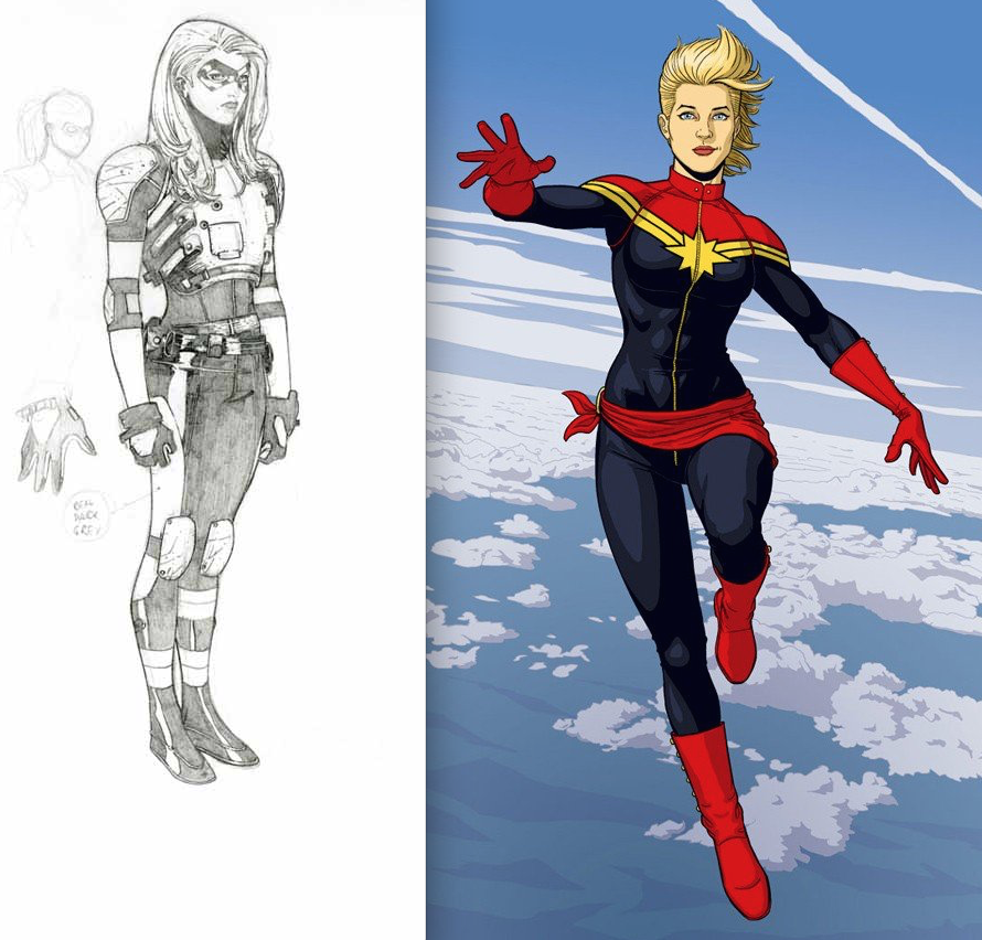 captain marvel new costume