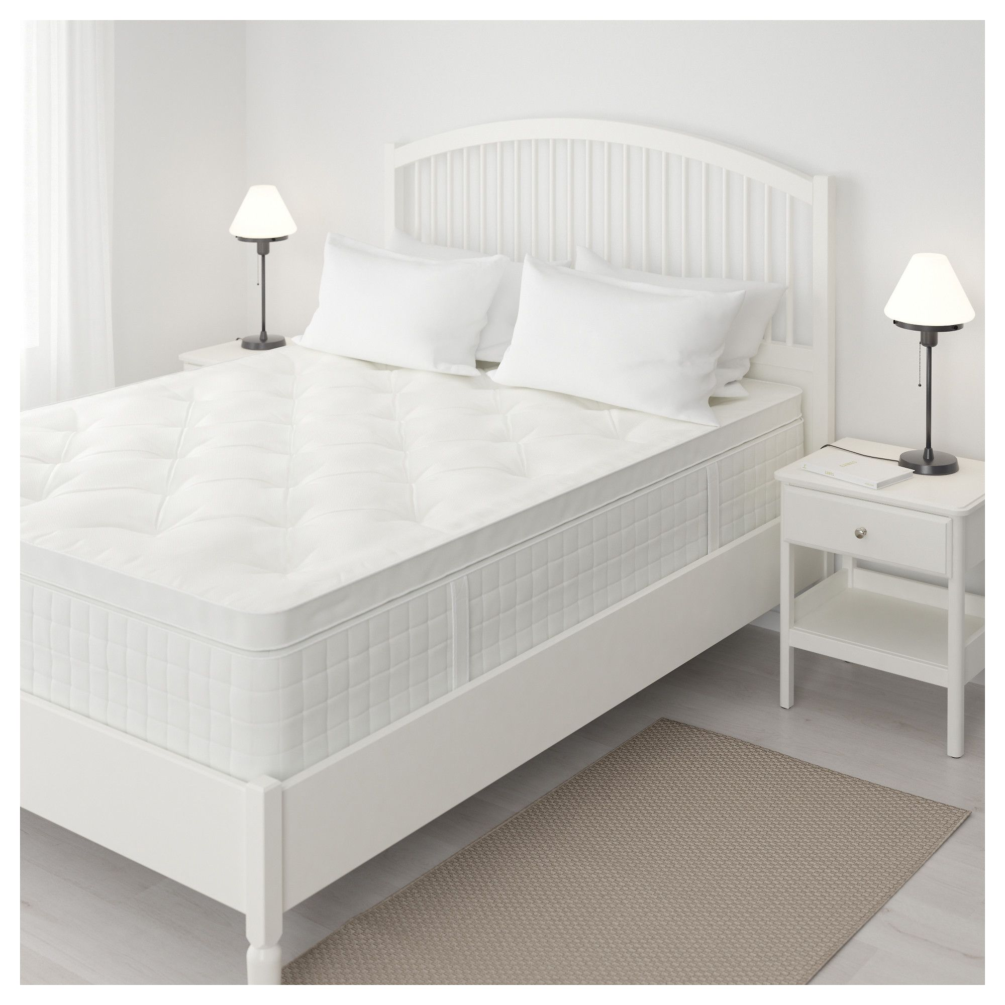 Hjellestad Pillowtop Mattress Medium Firm White Queen Ikea Mattress Pillow Top Mattress Ikea Mattress