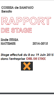 Rapport De Stage Dans L Entreprise Exemple D Introduction